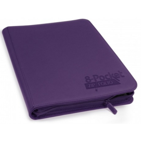 Ultimate Guard UG QUADROW ZIPFOLIO XENOSKIN 8PKT PURPLE