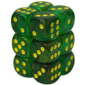 CHESSEX BOREALIS 12D6 MAPLE GREEN/YELLOW 16MM