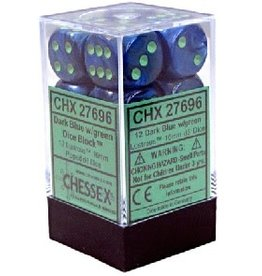 CHESSEX LUSTROUS 12D6 DARK BLUE/GREEN 16MM