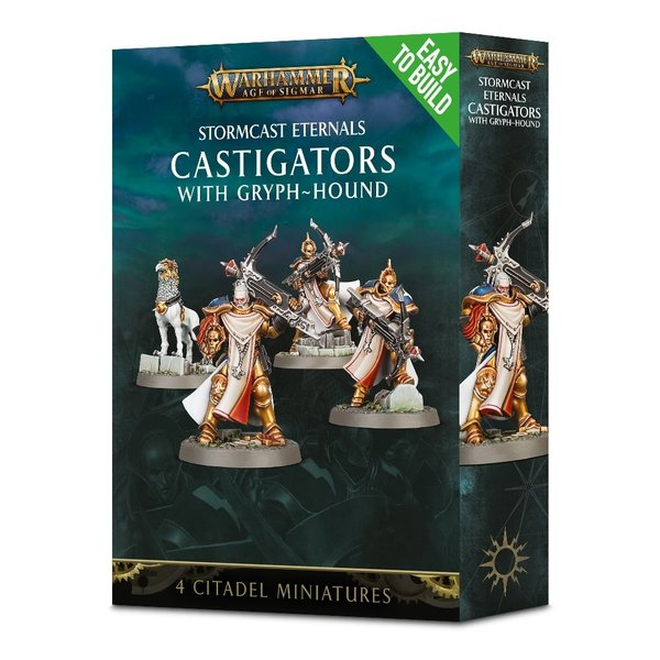 Age of Sigmar EASY TO BUILD STORMCAST CASTIGATORS WITH GRYPH-HOUND