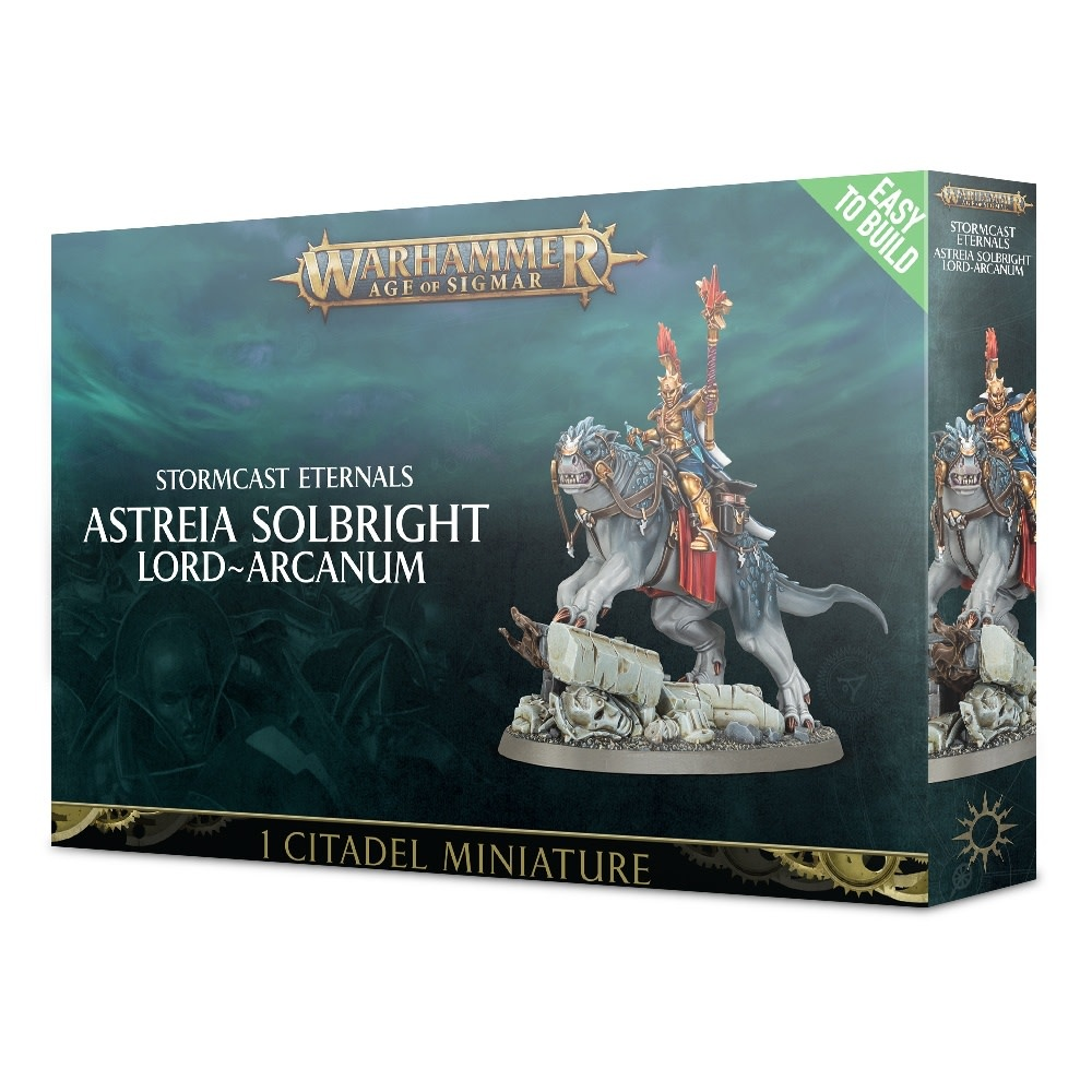 Age of Sigmar EASY TO BUILD STORMCAST ASTREIA SOLBRIGHT LORD-ARCANUM