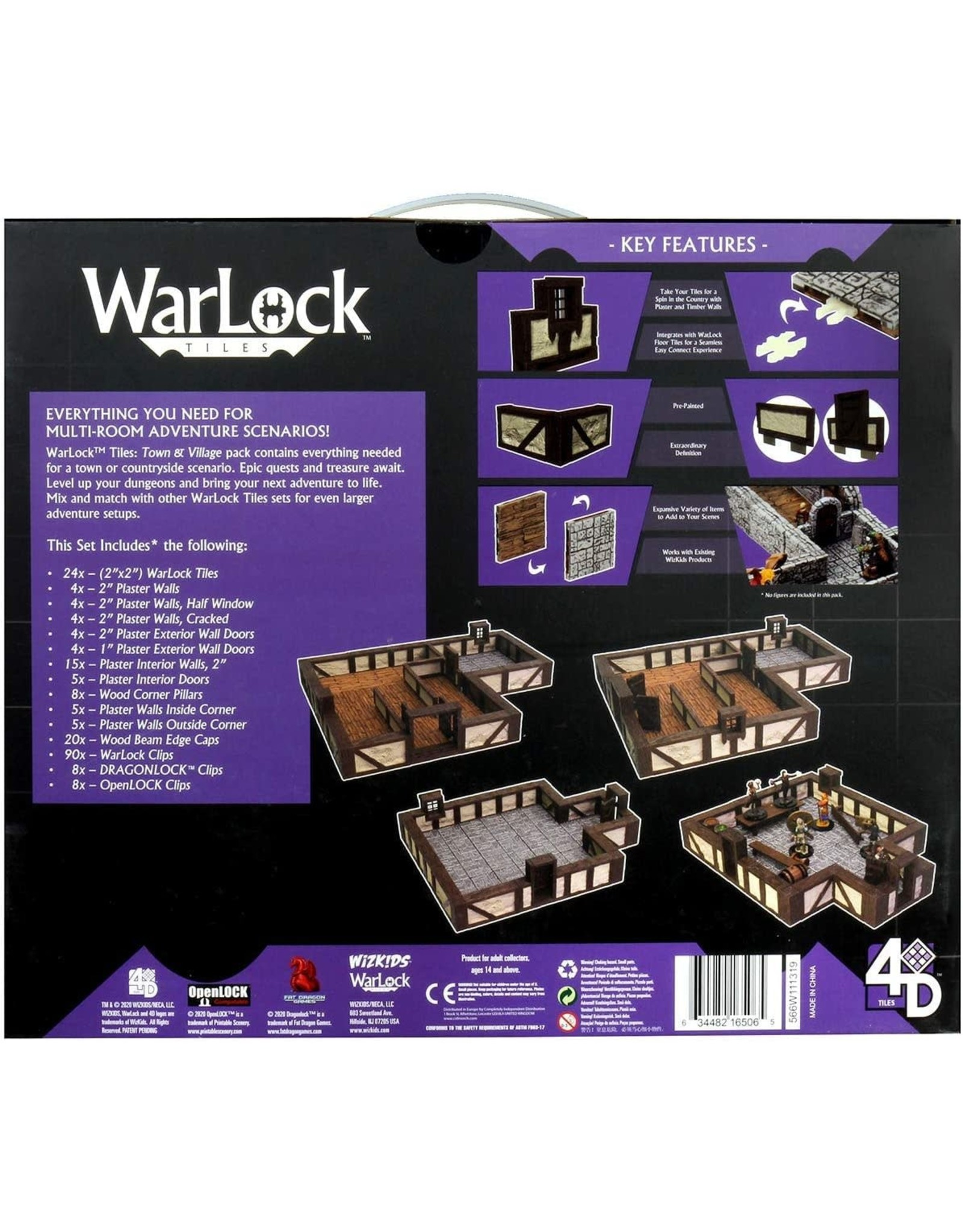 WIZKIDS WARLOCK DUNGEON TILES: TOWN AND VILLAGE