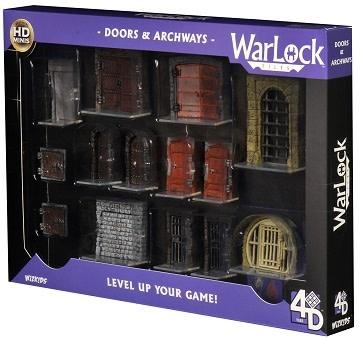WIZKIDS WARLOCK DUNGEON TILES: DOORS AND ARCHWAYS