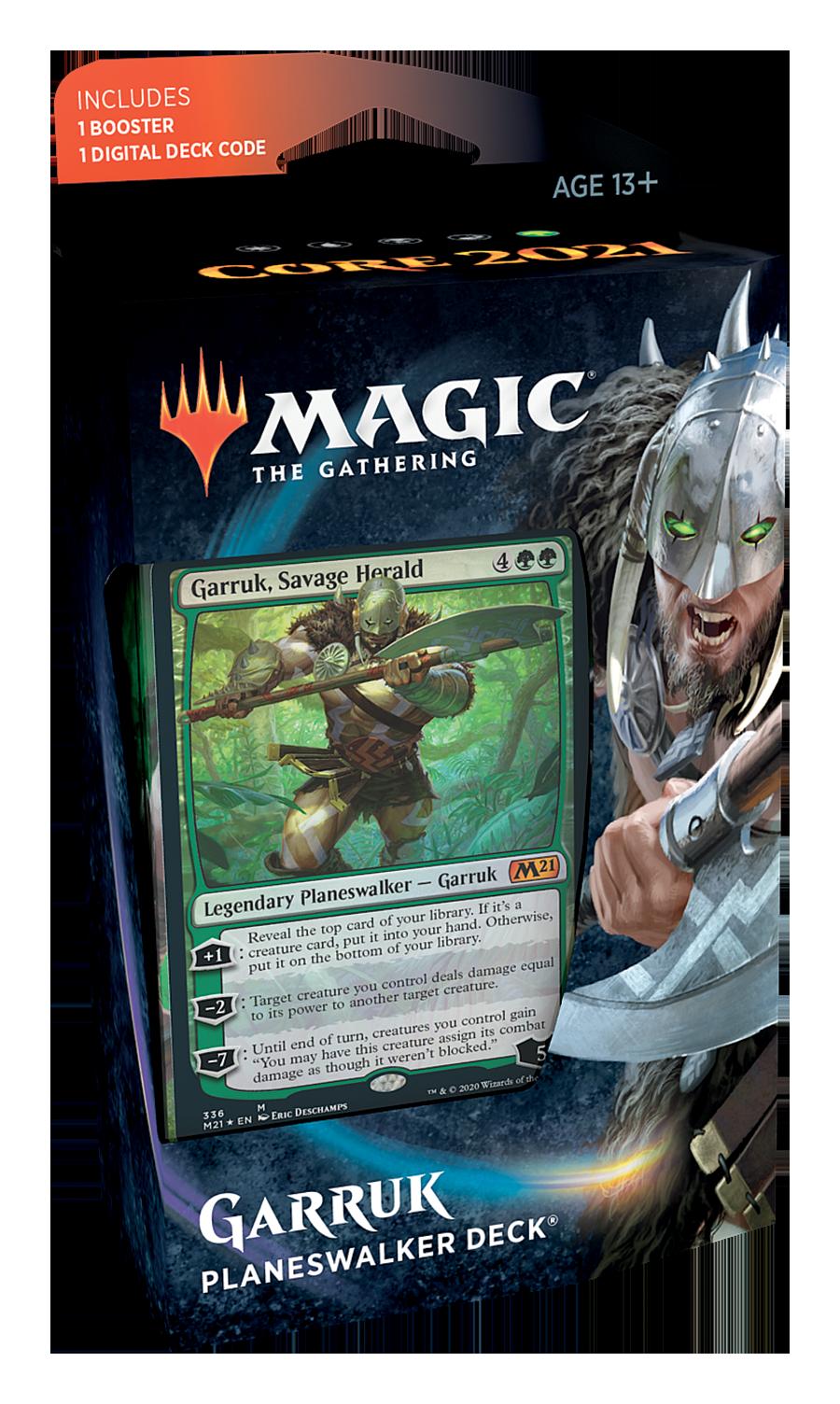 Wizards of the Coast MTG CORE 2021 PLANESWALKER DECK - Garruk
