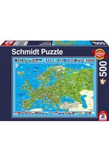 Schmidt Puzzle: 500 Discover Europe