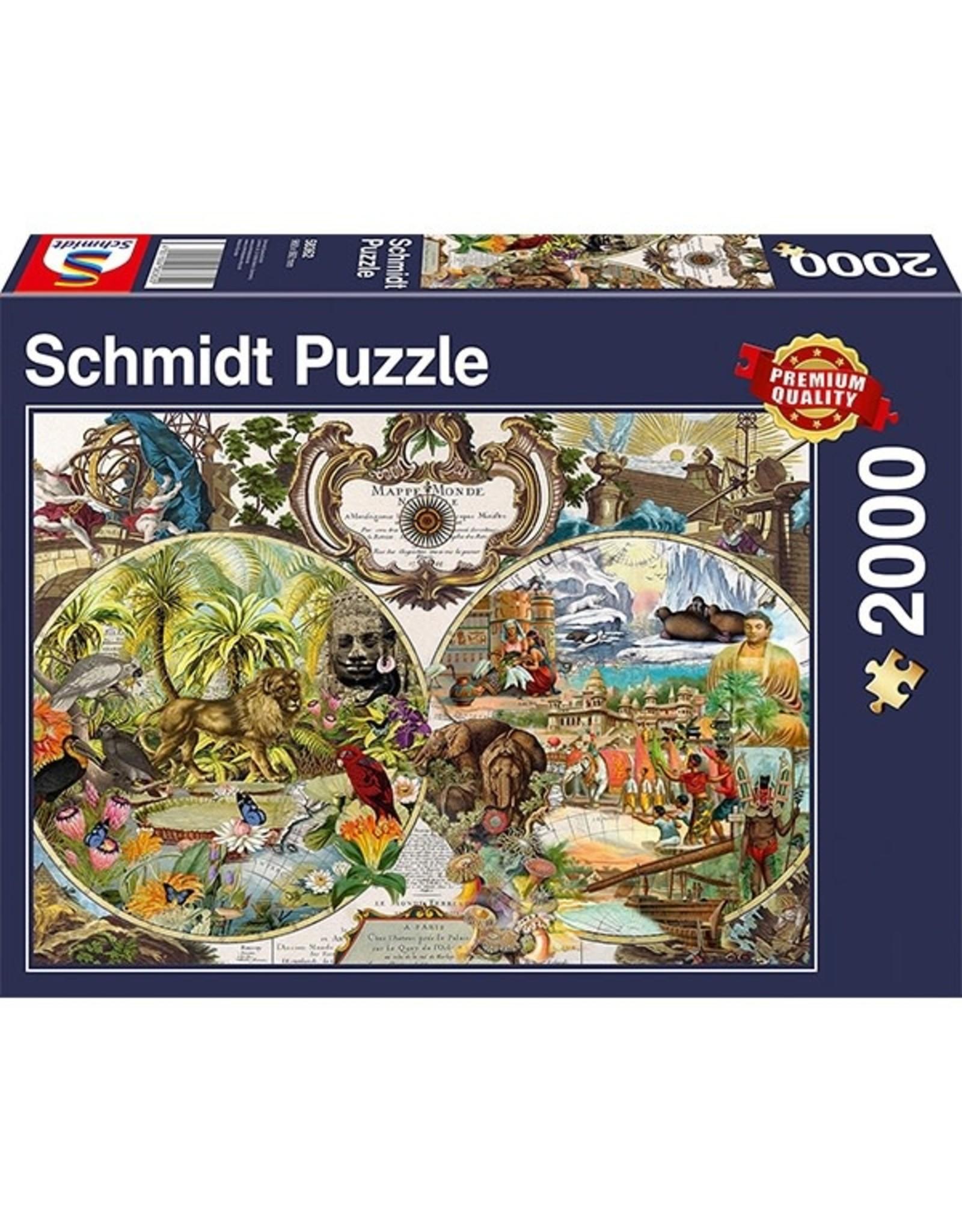 Schmidt Puzzle: 2000 Exotic World Map