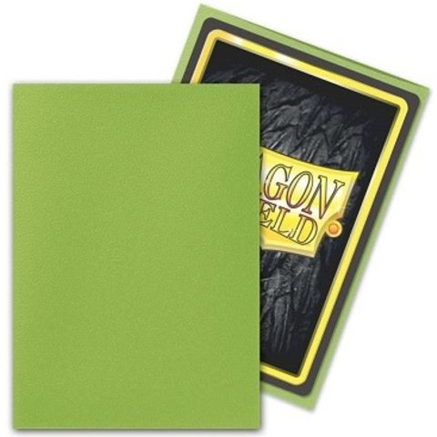 DRAGON SHIELD SLEEVES MATTE LIME 100CT
