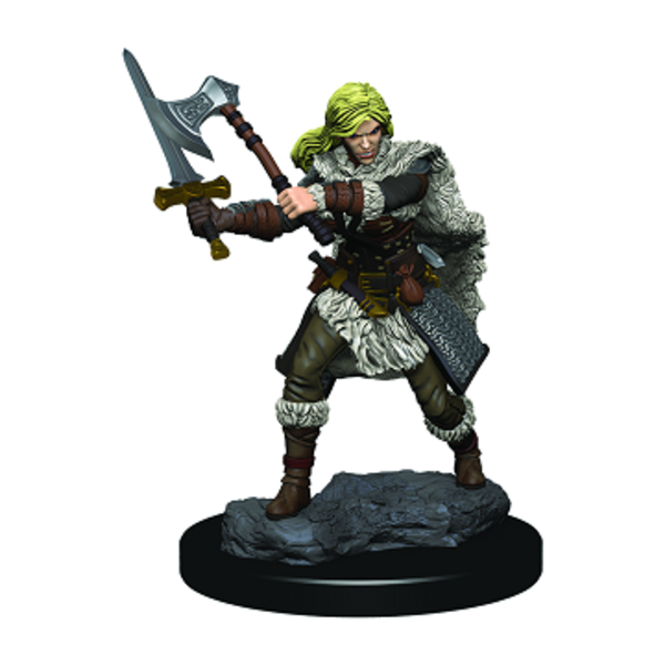 WIZKIDS DND ICONS: PREMIUM FIG HUMAN FEMALE BARBARIAN