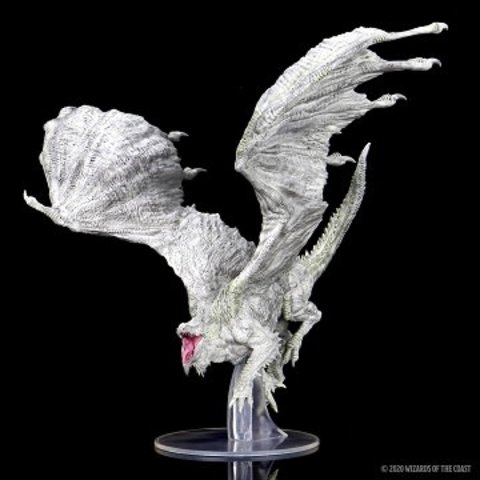 DND ICONS OF THE REALMS ADULT WHITE DRAGON PREMIUM
