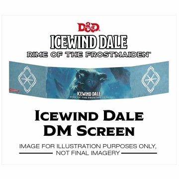 Wizards of the Coast DND DM SCREEN ICEWIND DALE RIME OF THE FROSTMAIDEN *DATE DE SORTIE 19 SEPTEMBRE*