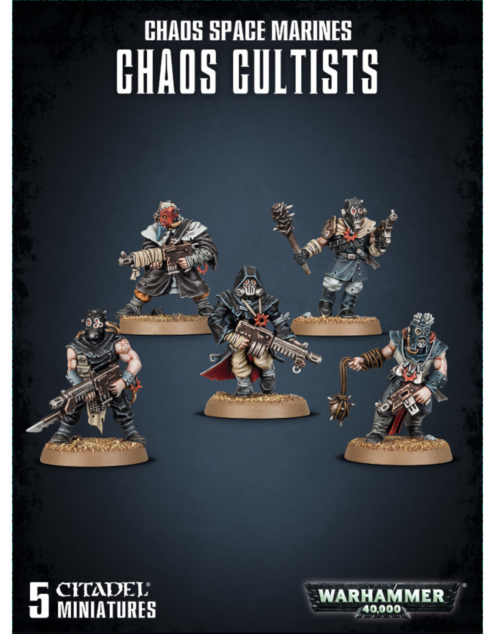 Warhammer 40k CHAOS SPACE MARINES CULTISTS (5) ETB