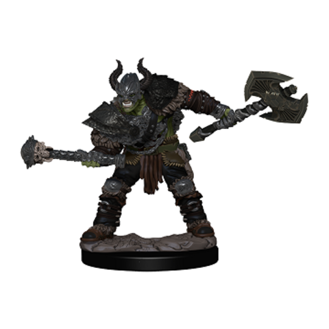 PF BATTLES: PREMIUM PAINTED FIG - HALF-ORC BARBARIAN MALE