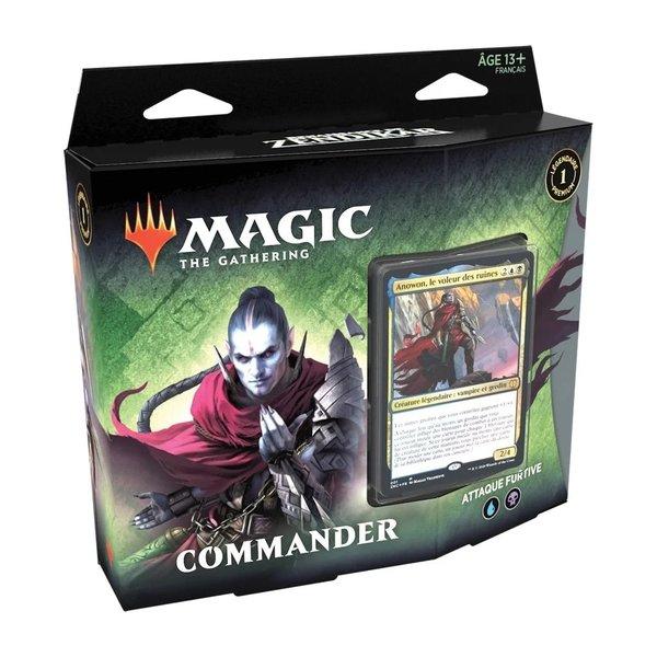 Wizards of the Coast MTG RENAISSANCE DE ZENDIKAR - Commander Attaque Furtive (FR)