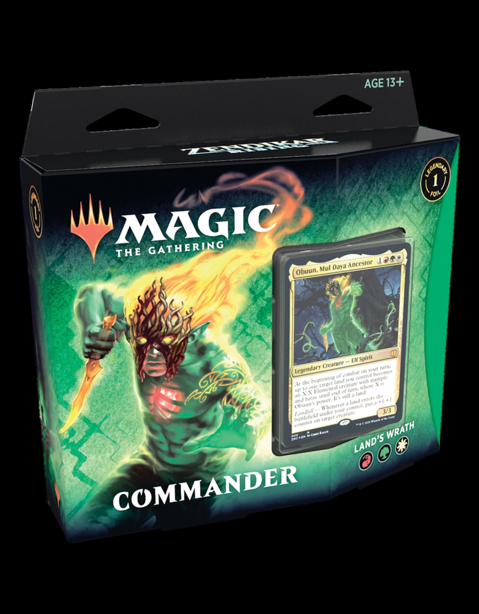 Wizards of the Coast MTG ZENDIKAR RISING - Commander Land's Wrath