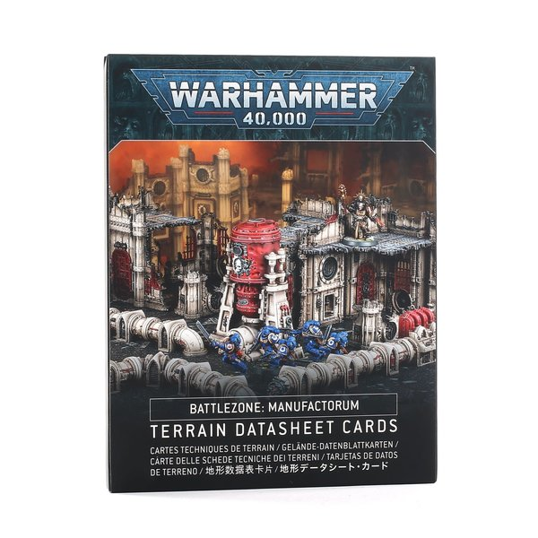 Warhammer 40k BATTLEZONE MANUFACTORUM DATASHEET CARDS (FRANÇAIS)
