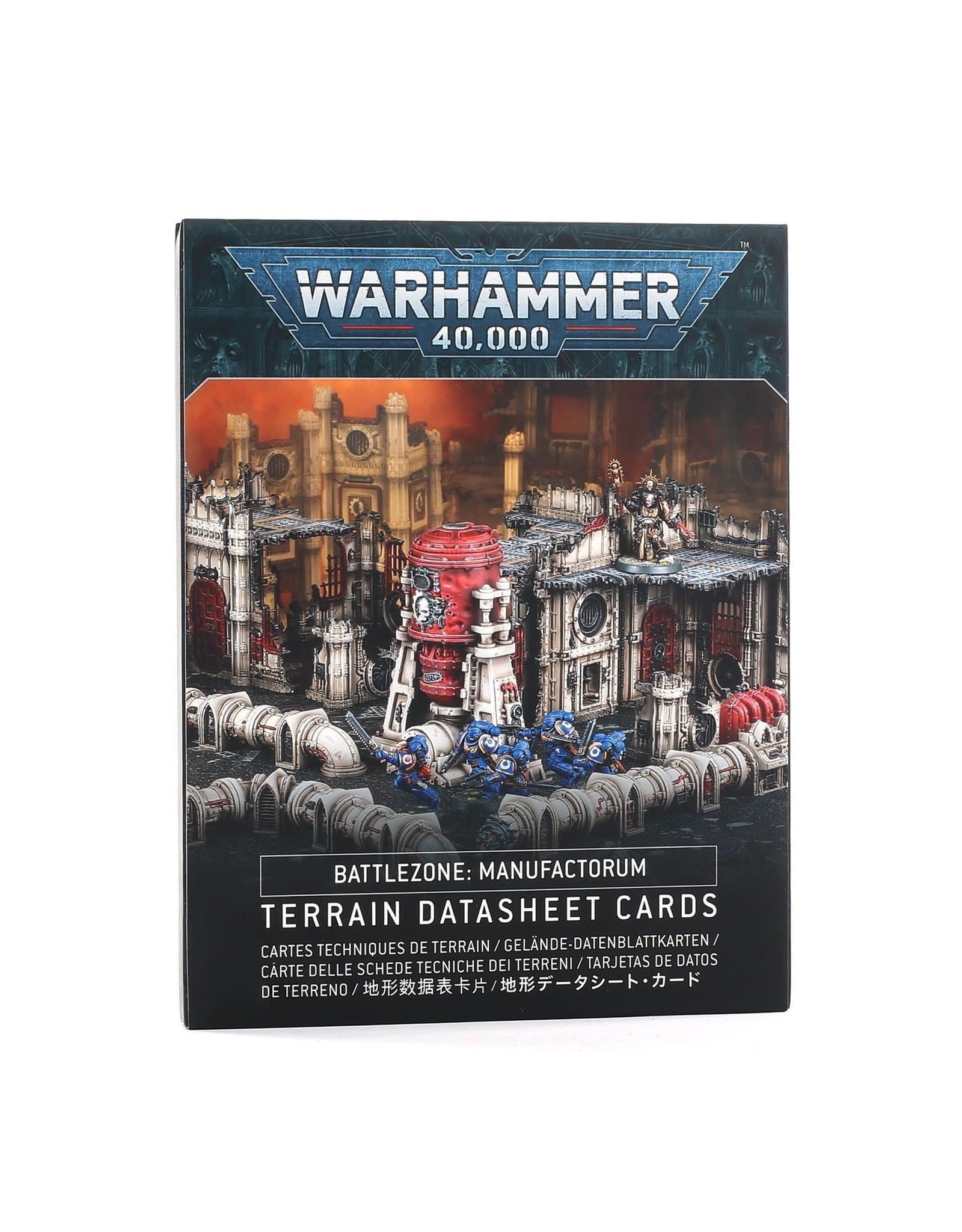 Warhammer 40k BATTLEZONE MANUFACTORUM DATASHEET CARDS (ENG)