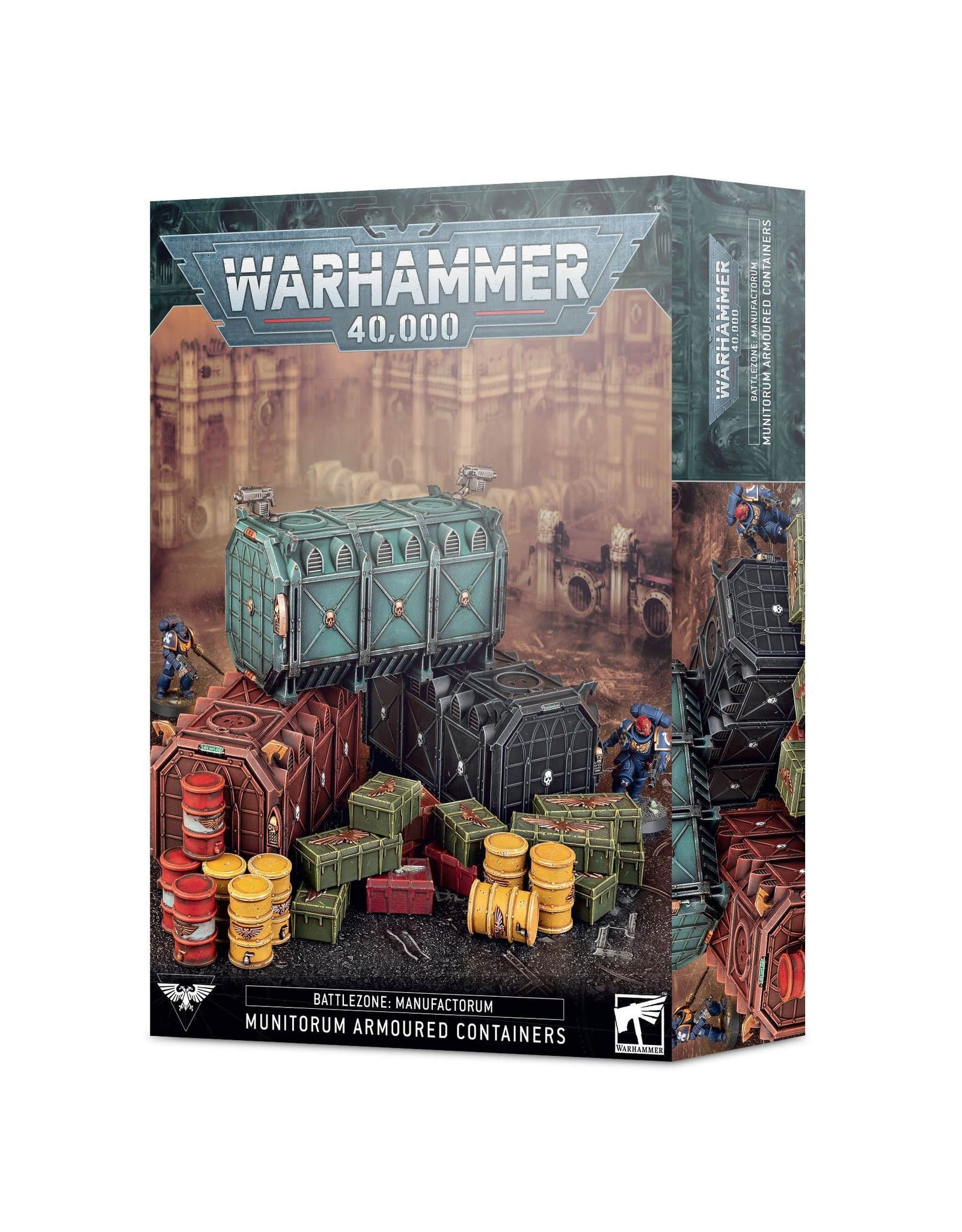 Warhammer 40k BATTLEZONE: MUNITORUM ARMOURED CONTAINERS