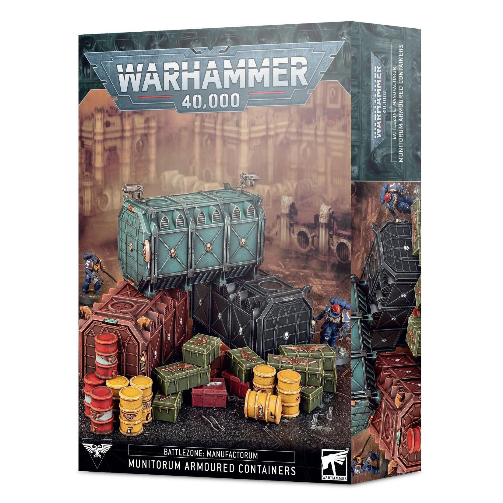 Warhammer 40k BATTLEZONE: MUNITORUM ARMOURED CONTAINERS