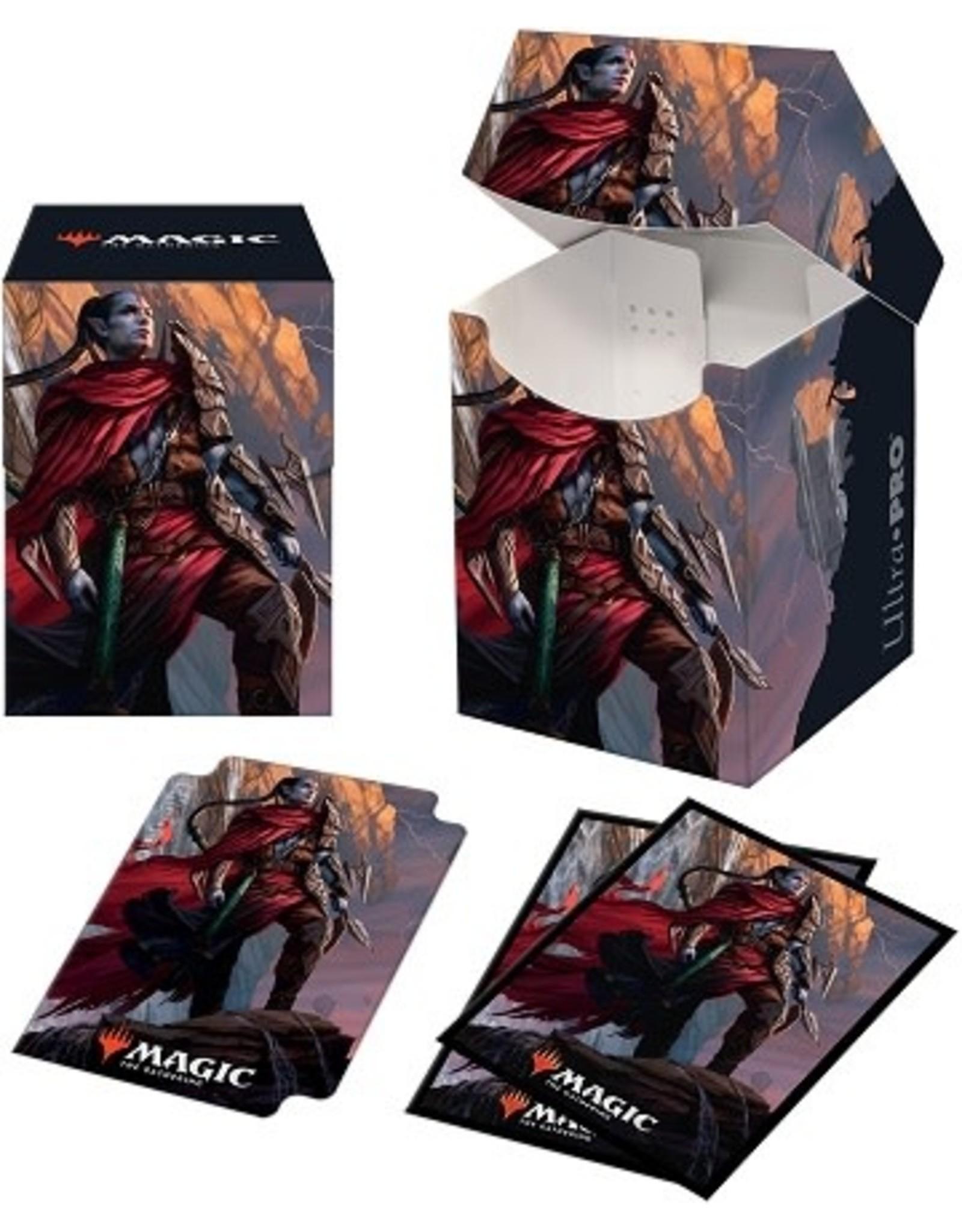 Ultra Pro UP COMBO (100 Sleeves + Box) D-BOX D-PRO MTG ZENDIKAR RISING V2