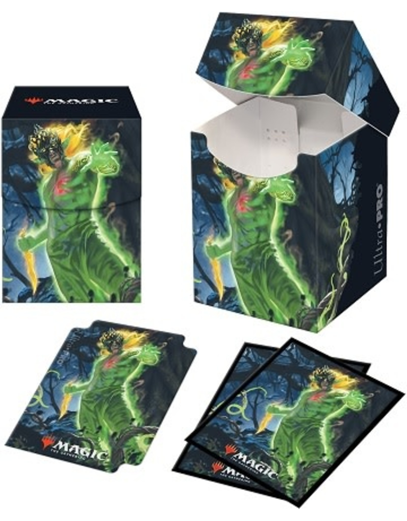 Ultra Pro UP COMBO (100 Sleeves + Box) D-BOX D-PRO MTG ZENDIKAR RISING V1