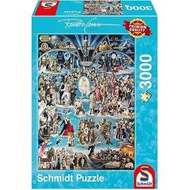 Schmidt Puzzle: 3000 Hollywood XXL