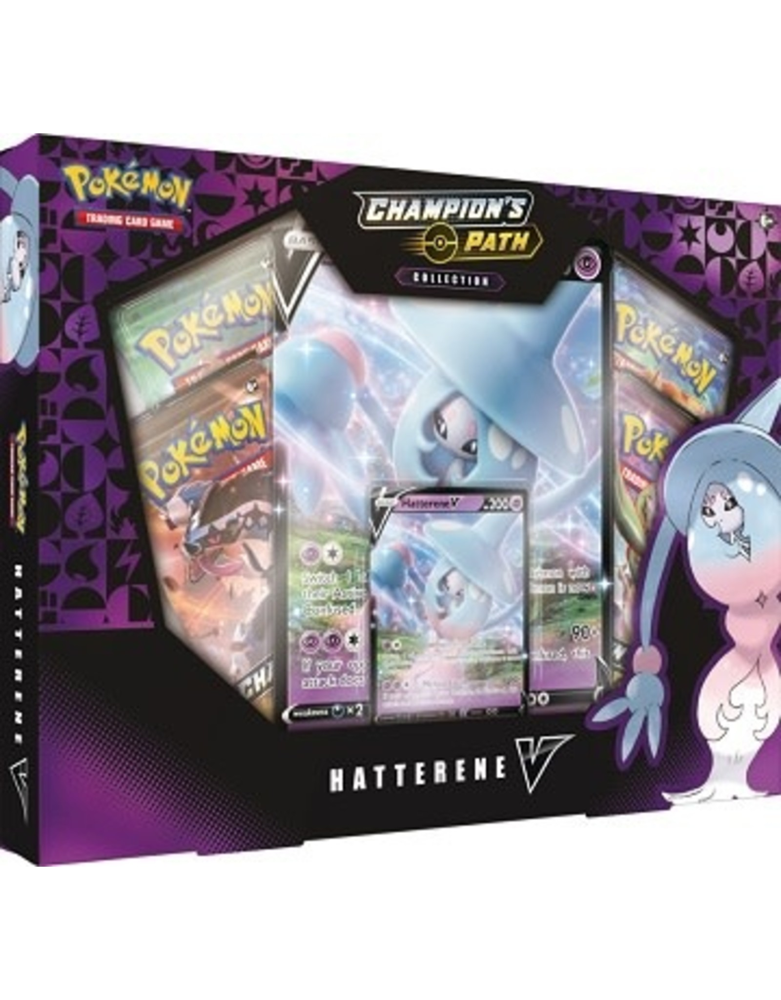 POKEMON POKEMON CHAMPION'S PATH HATTERENE V COLLECTION
