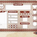 Gale Force Nine DND BARBARIAN TOKEN SET
