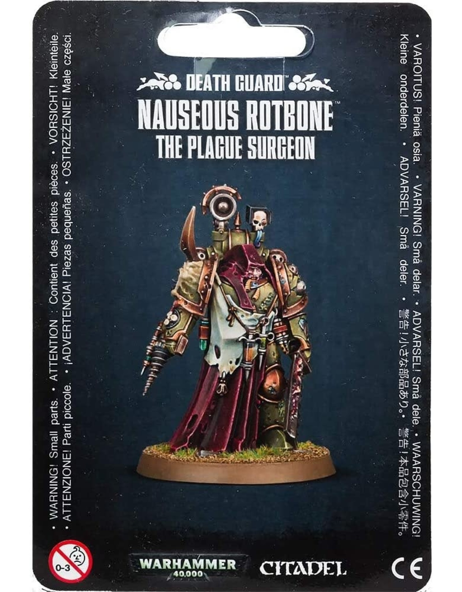 Warhammer 40k DEATH GUARD NAUSEOUS ROTBONE, THE PLAGUE SURGEON