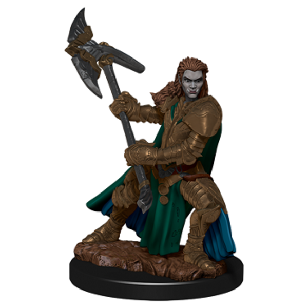 WIZKIDS DND ICONS: HALF-ORC FIGHTER FEMALE PREMIUM FIG