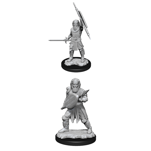 WIZKIDS DND UNPAINTED MINIS WV13 HUMAN FIGHTER MALE