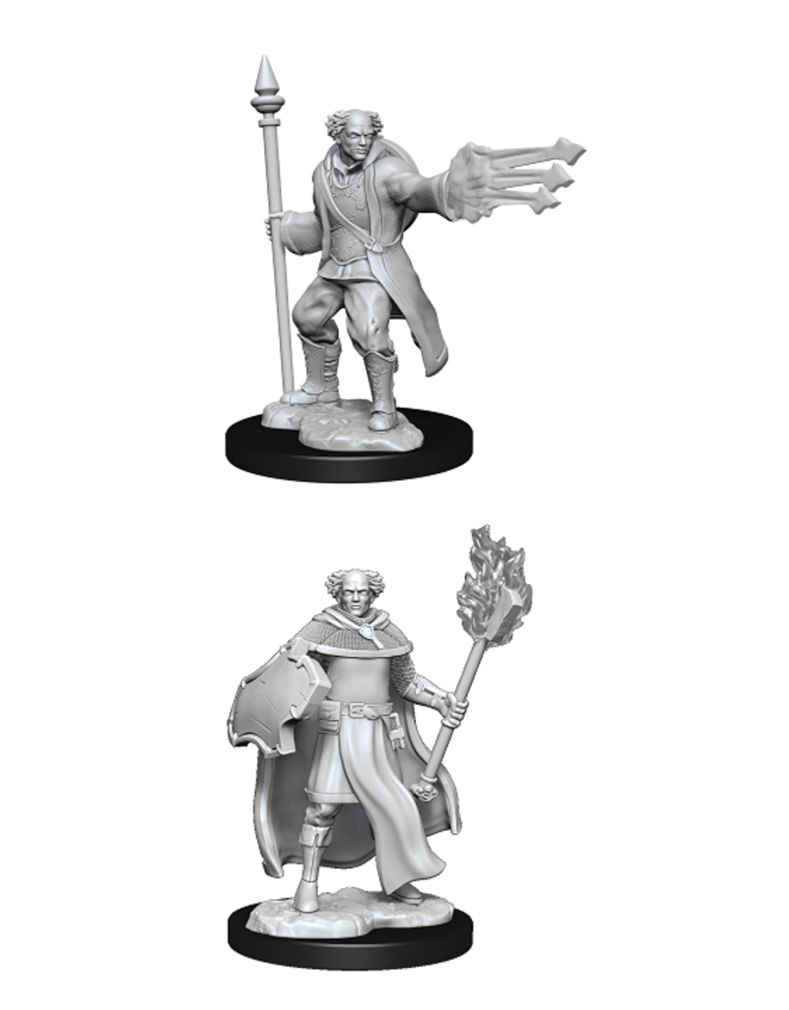 WIZKIDS DND UNPAINTED MINIS WV13 MULTICLASS CLERIC/WIZARD MALE