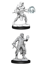 WIZKIDS DND UNPAINTED MINIS WV13 MULTICLASS FIGHTER/WIZARD MALE