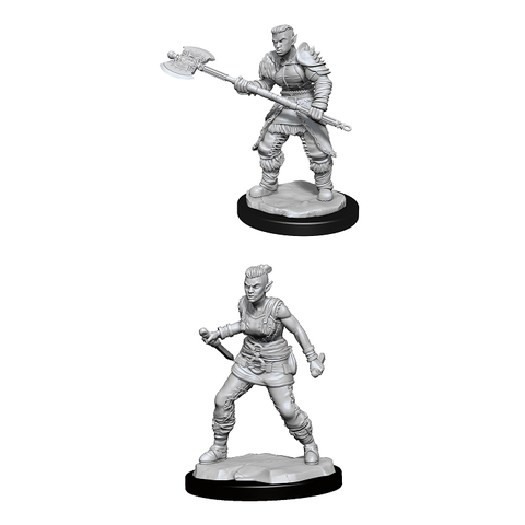 DND UNPAINTED MINIS WV13 ORC BARBARIAN FEMALE