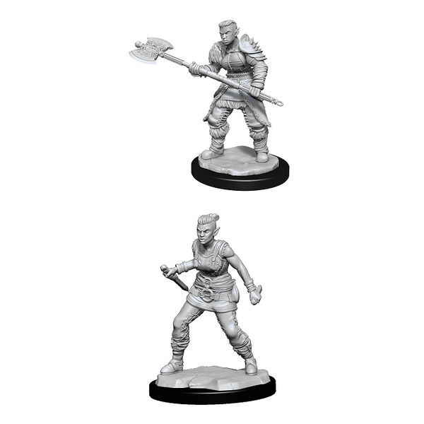 WIZKIDS DND UNPAINTED MINIS WV13 ORC BARBARIAN FEMALE