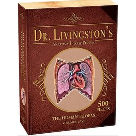Genius Games DR. LIVINGSTON'S ANATOMY PUZZLE: HUMAN THORAX (500pc)