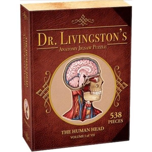 Genius Games DR. LIVINGSTON'S ANATOMY PUZZLE: HUMAN HEAD (500 pc)