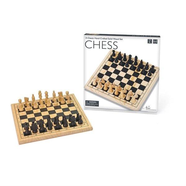 """New Entertainment Jeu d'Échec en Bois - Wooden Chess 11.5"""""""