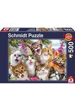 Schmidt Puzzle: 500 Cat Selfie