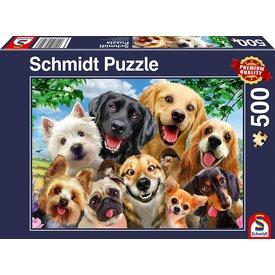Schmidt Puzzle: 500 Dog Selfie