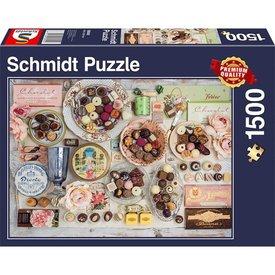 Schmidt Puzzle: 1500 Nostalgic Chocolates