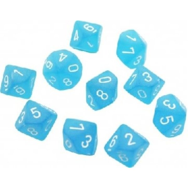 CHESSEX FROSTED 10D10 CARIBBEAN BLUE