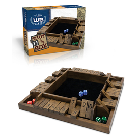 Divers SHUT THE BOX, 4-PLAYER WOOD TRAVEL SIZE