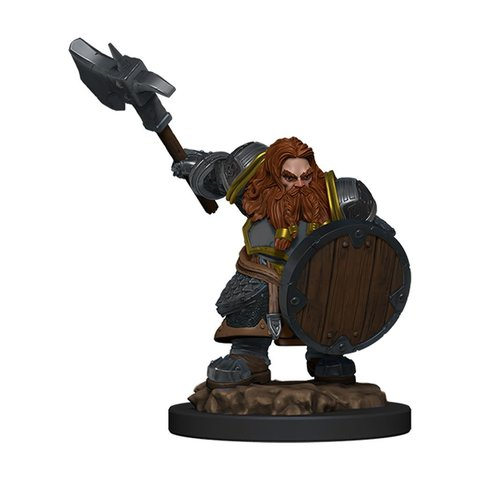DND ICONS OF THE REALMS DWARF FIGHTER MALE PREM FIG