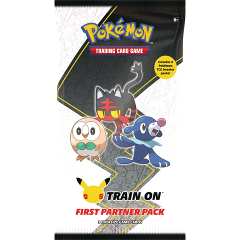 POKEMON FIRST PARTNER PACK (ALOLA) (3 oversized + 2 Boosters Réguliers)