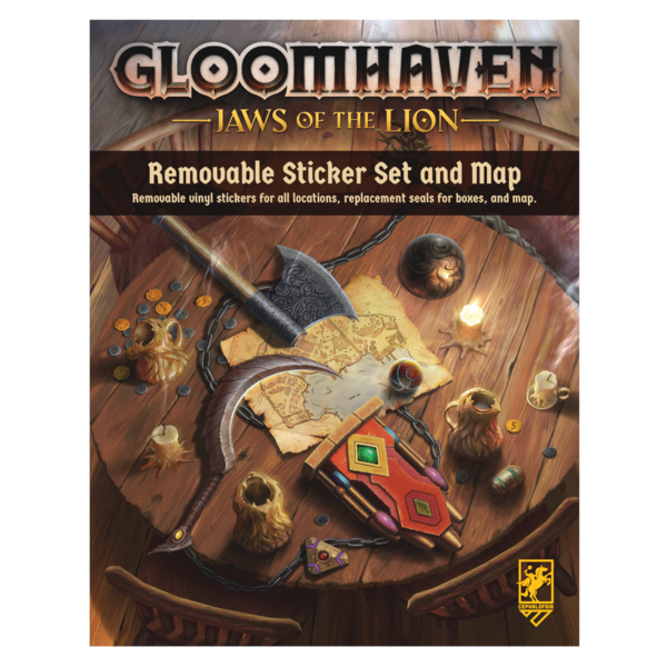 CEPHALOFAIR GAMES GLOOMHAVEN JAWS OF THE LION REMOVABLE STICKER SET/MAP