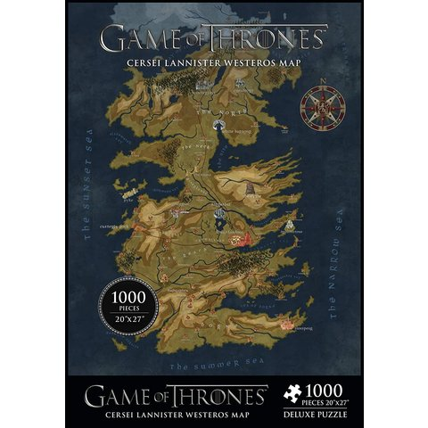 GAME OF THRONES PUZZLE 1000PC WESTEROS MAP