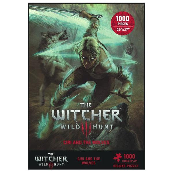 Dark Horse Comics WITCHER 3 PUZZLE 1000PC CIRI & WOLVES