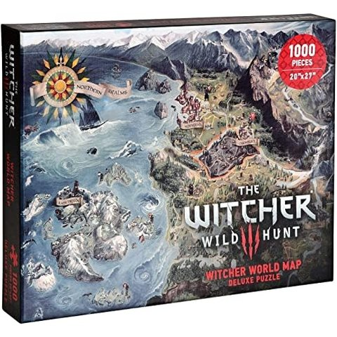 WITCHER 3 PUZZLE 1000PC WORLD MAP
