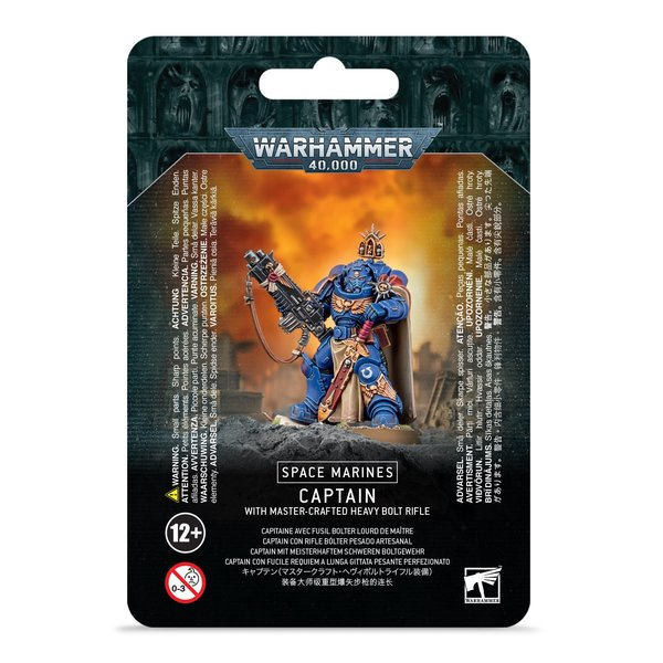 Warhammer 40k S/M CAPTAIN W/ MASTER-CRAFTED BOLT RIFLE