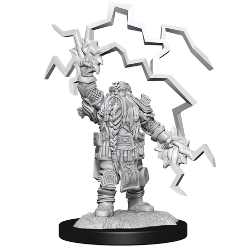 DND UNPAINTED MINIS DWARF CLERIC MALE
